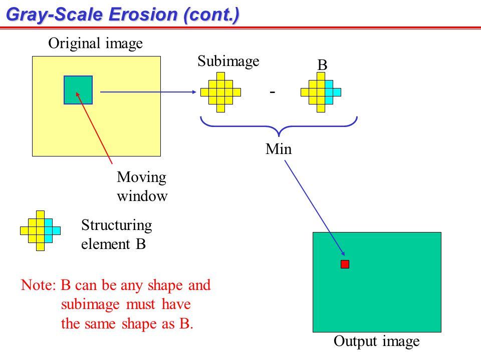Gray-Scale Erosion (cont.)