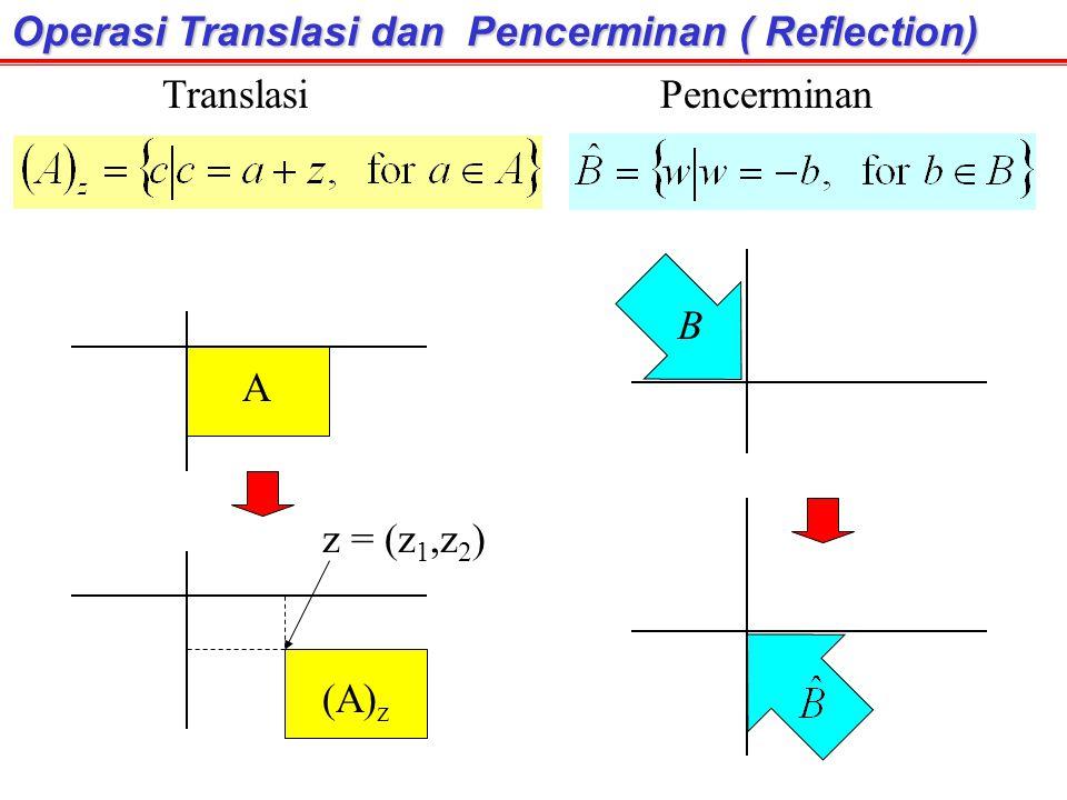Operasi Translasi dan Pencerminan ( Reflection)