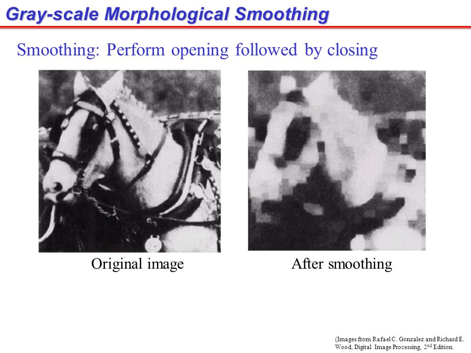 Gray-scale Morphological Smoothing