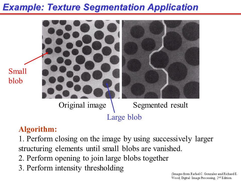 Example: Texture Segmentation Application