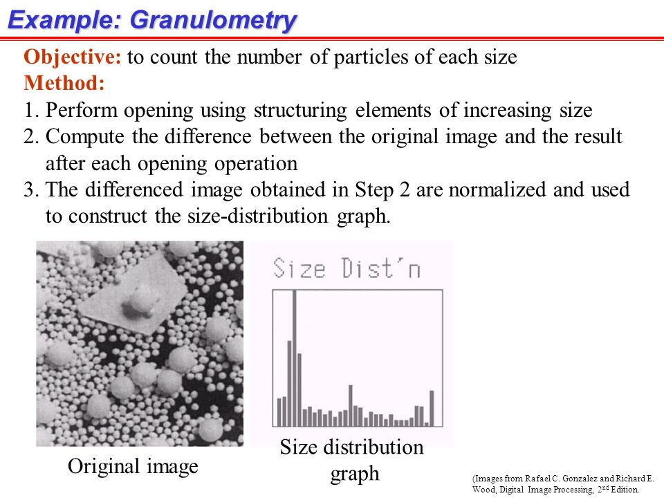 Example: Granulometry