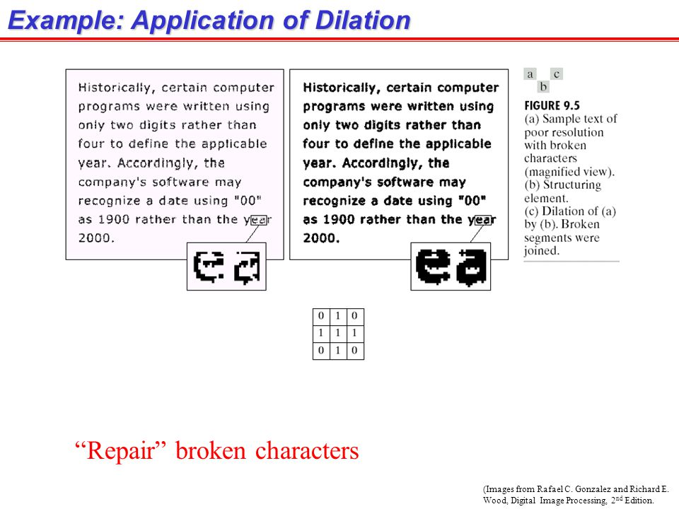 Example: Application of Dilation