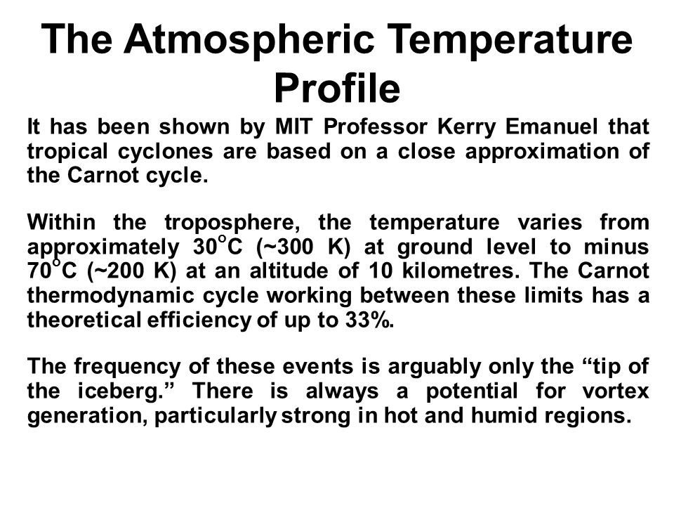 The Atmospheric Temperature Profile