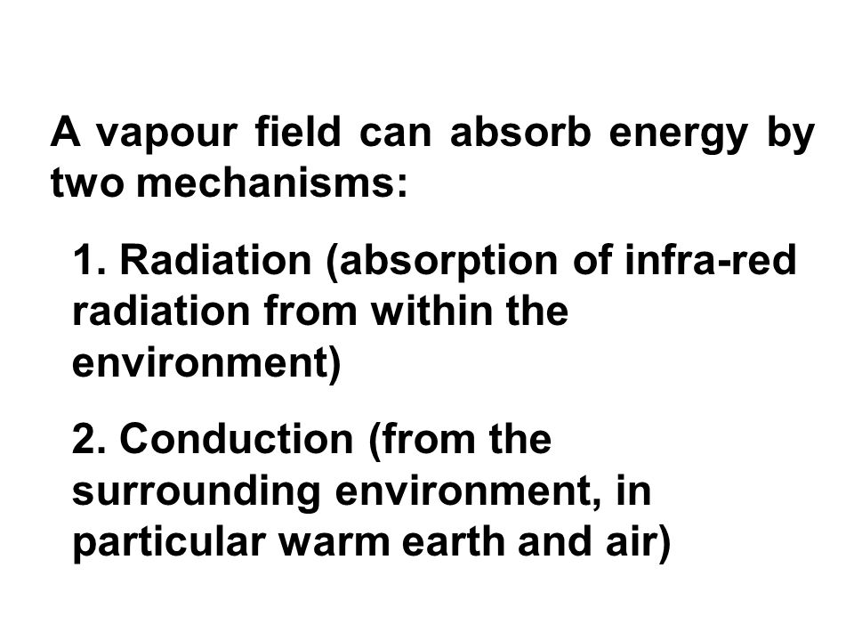 A vapour field can absorb energy by two mechanisms: