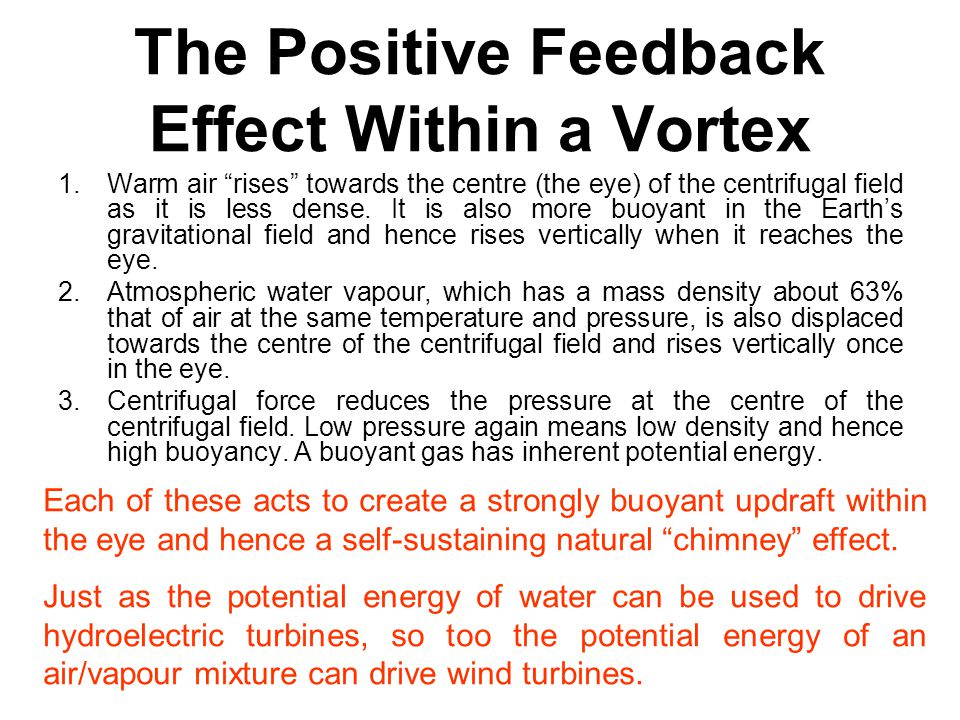 The Positive Feedback Effect Within a Vortex