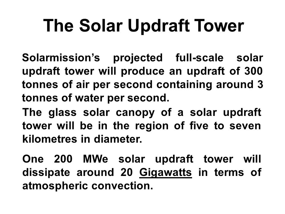 The Solar Updraft Tower