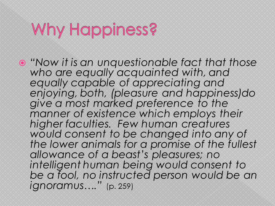 Why Happiness