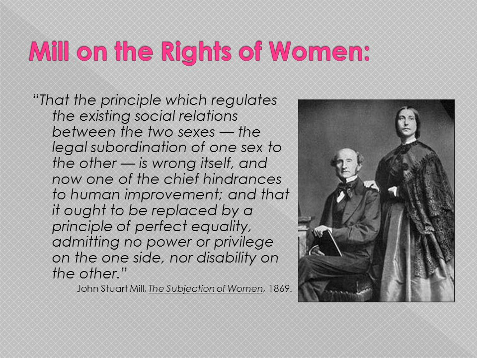 Mill on the Rights of Women: