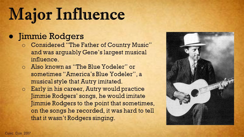 Major Influence Jimmie Rodgers