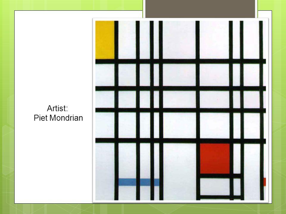 Artist: Piet Mondrian