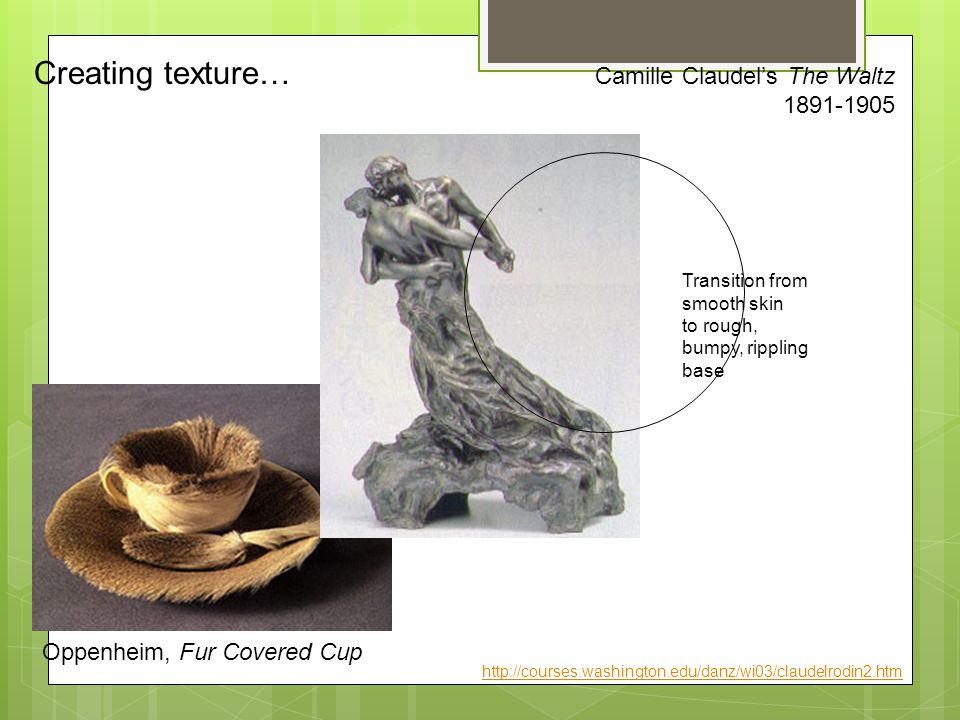 Creating texture… Camille Claudel's The Waltz 1891-1905