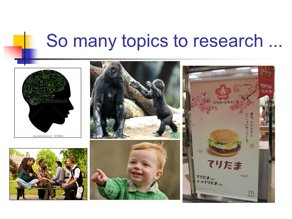 So many topics to research ...