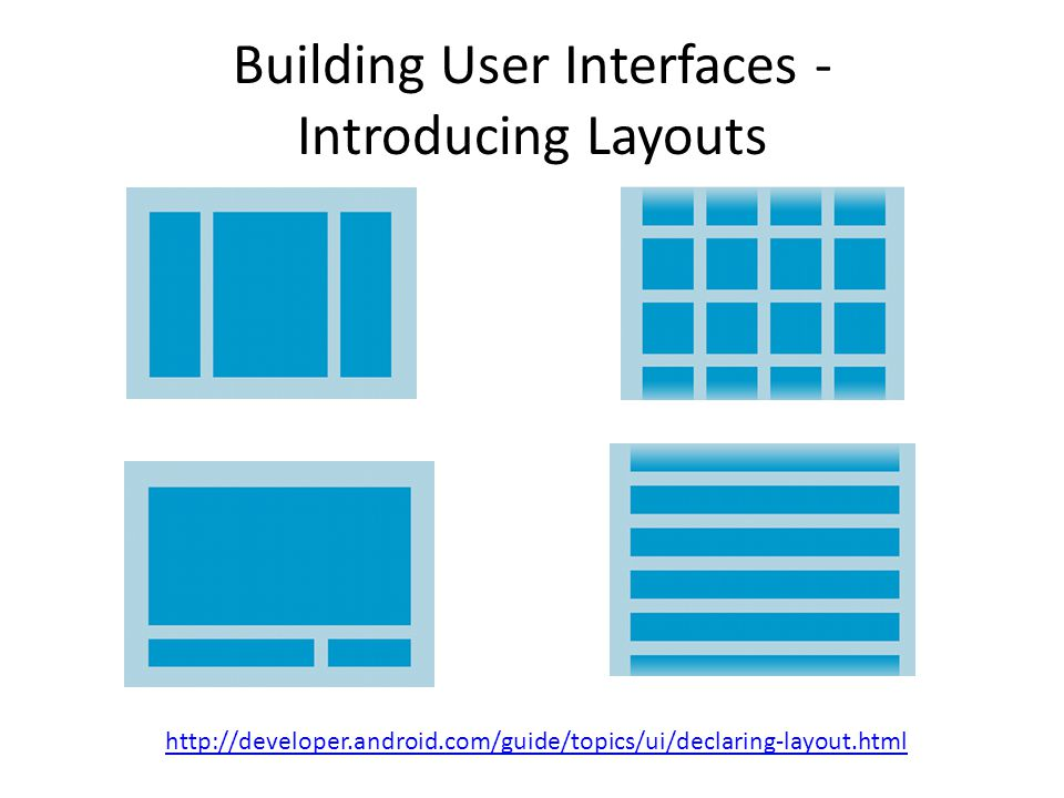 Building User Interfaces - Introducing Layouts