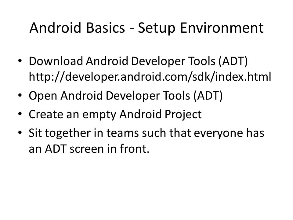 Android Basics - Setup Environment