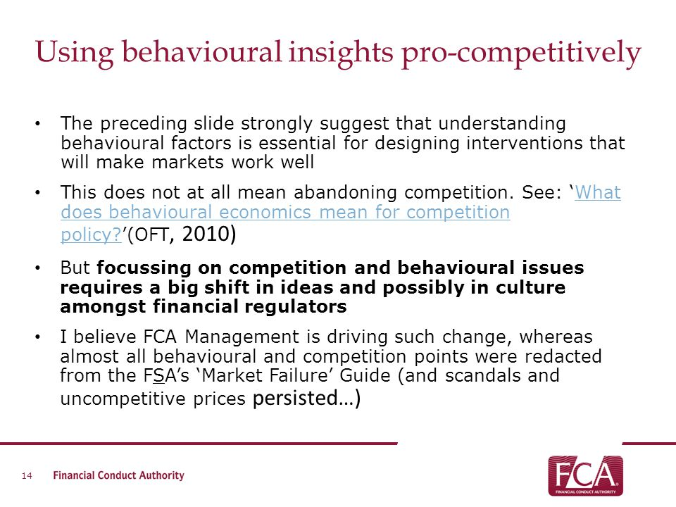 Using behavioural insights pro-competitively