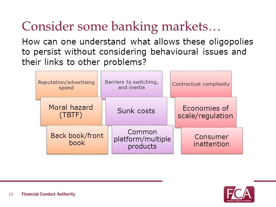 Consider some banking markets…