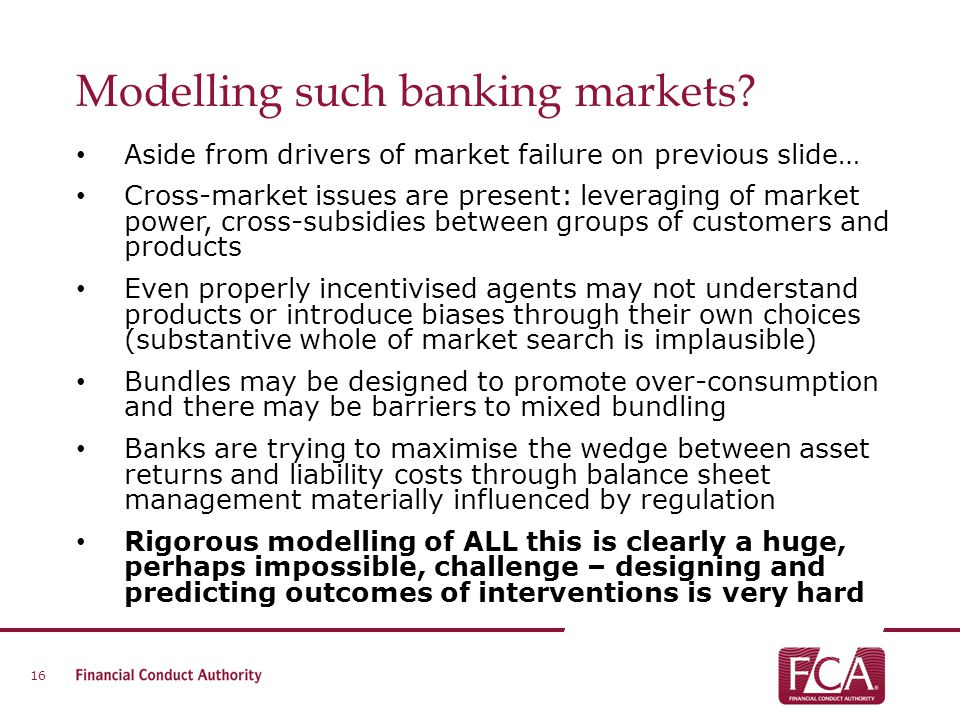 Modelling such banking markets