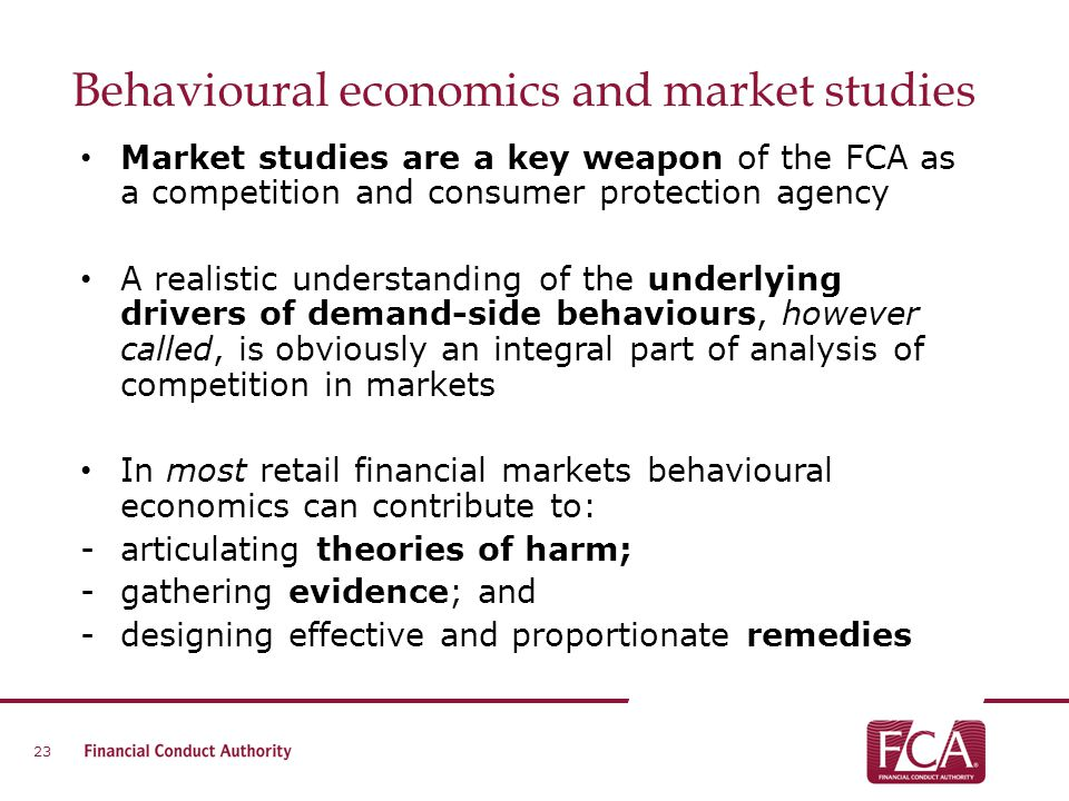 Behavioural economics and market studies