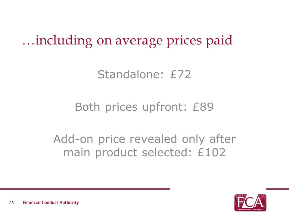 …including on average prices paid