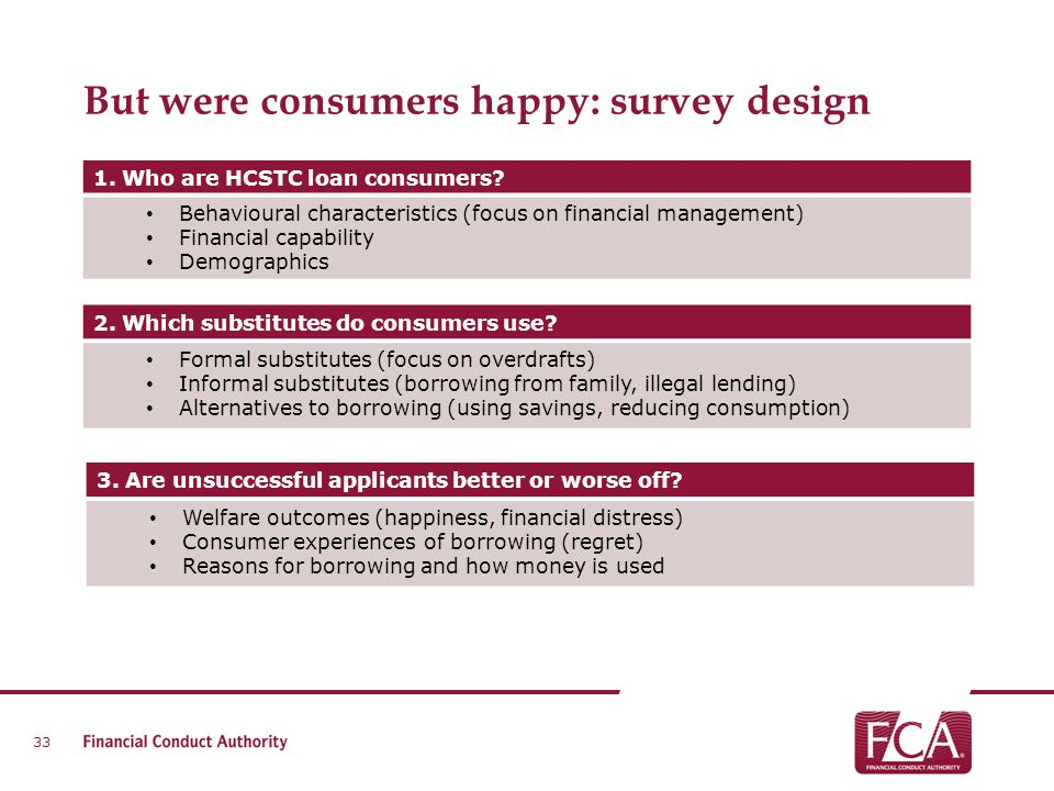 But were consumers happy: survey design