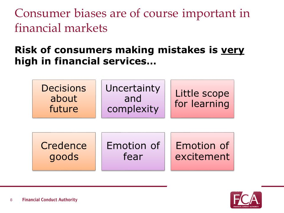 Consumer biases are of course important in financial markets