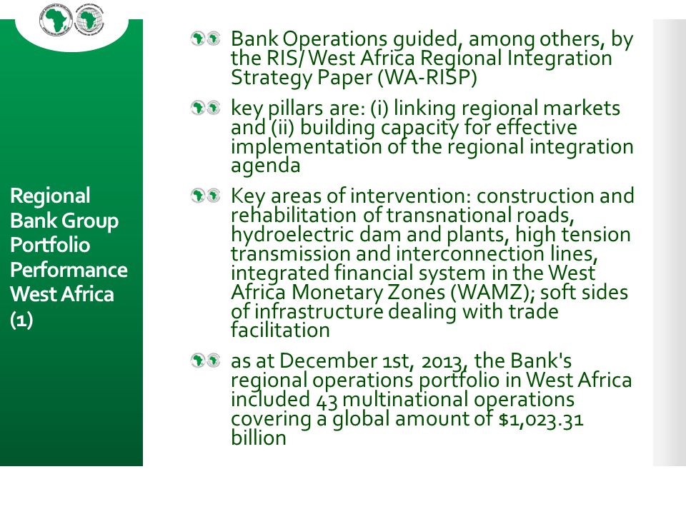 Regional Bank Group Portfolio Performance West Africa (1)