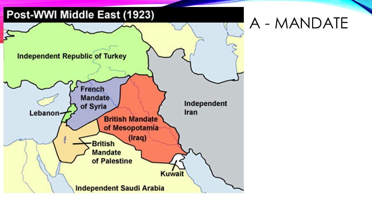 A - mandate