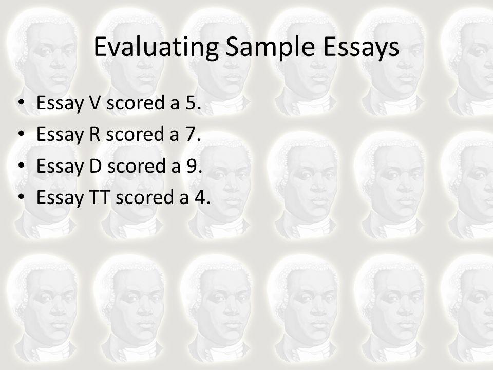 Evaluating Sample Essays