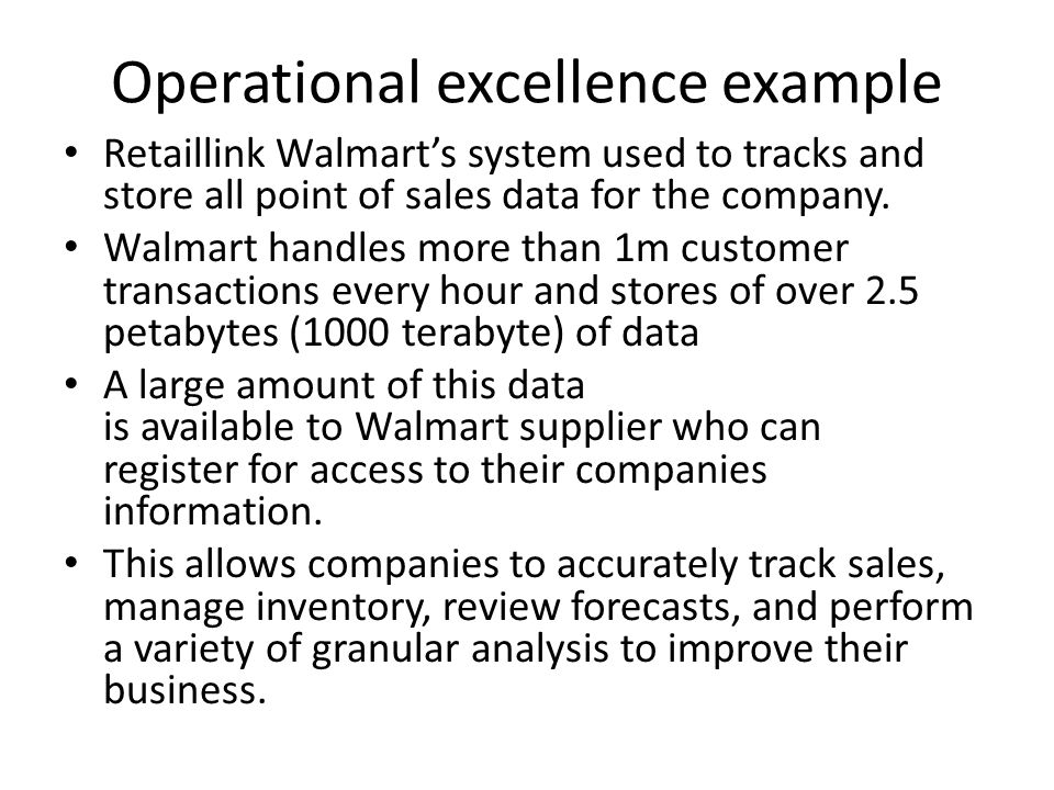 operational excellence example
