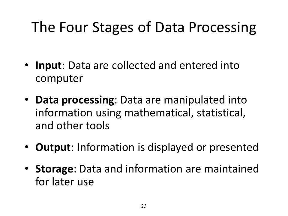 The Four Stages of Data Processing
