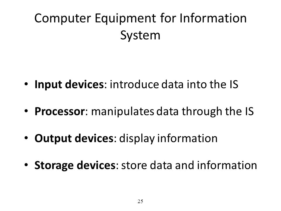 Computer Equipment for Information System