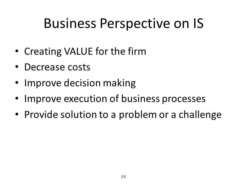 Business Perspective on IS