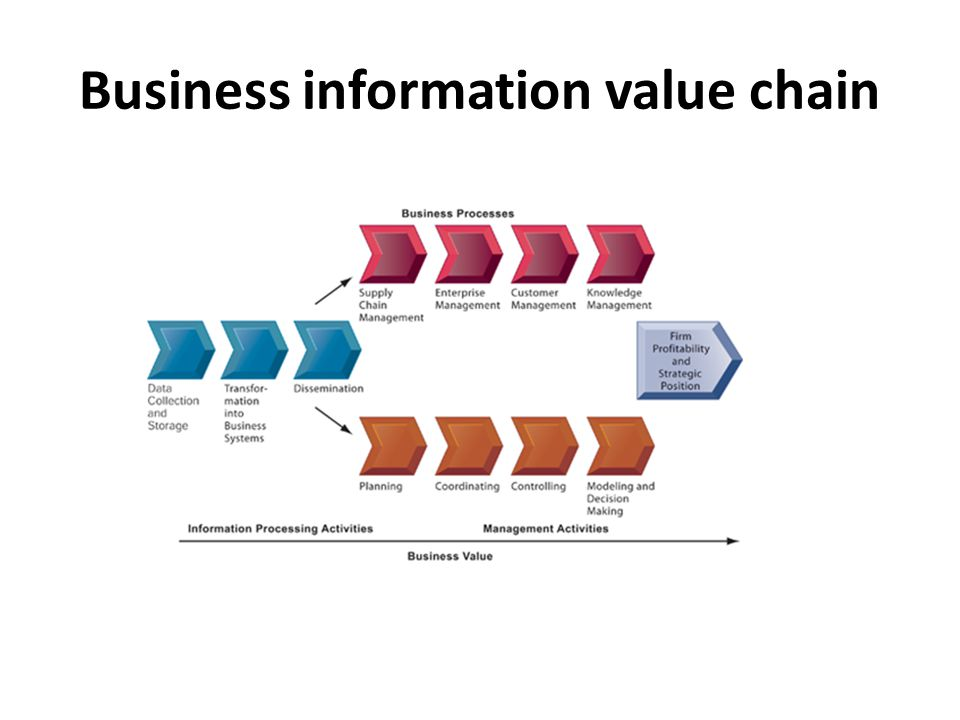 Business information value chain