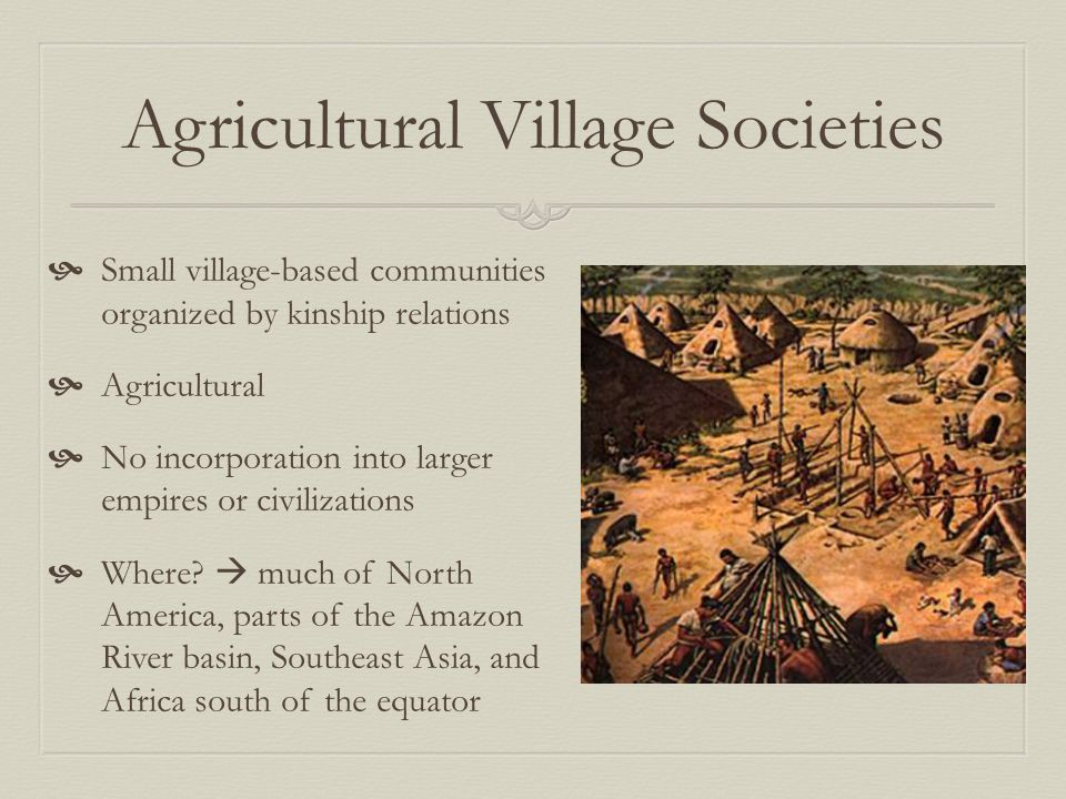 Agricultural Village Societies