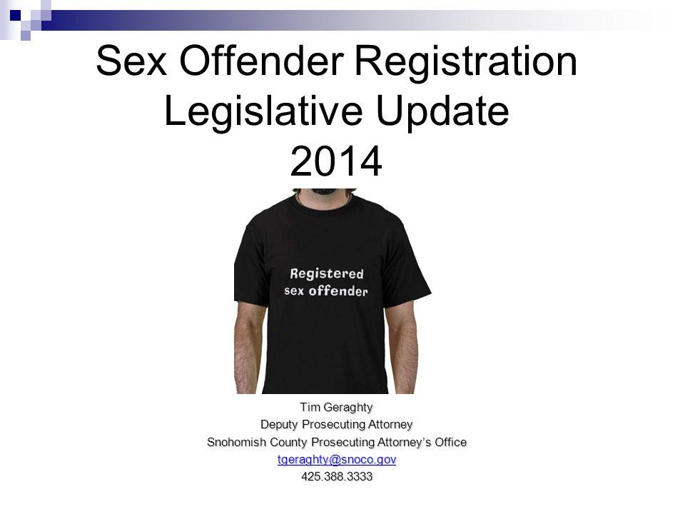 Sex Offender Registration Legislative Update 2014