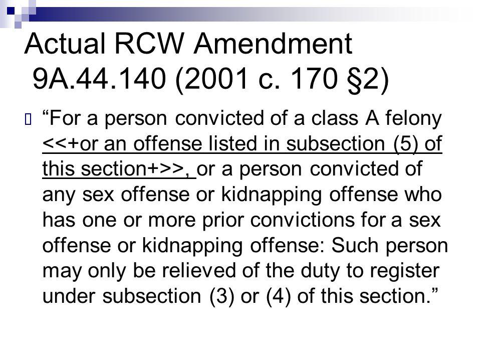 Actual RCW Amendment 9A.44.140 (2001 c. 170 §2)