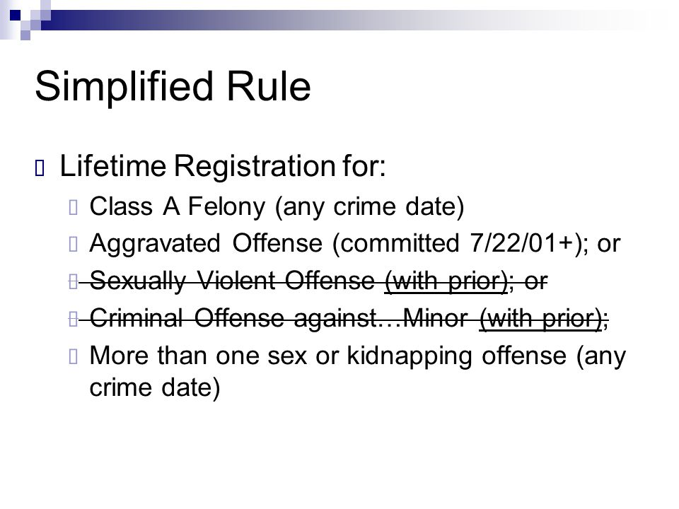 Simplified Rule Lifetime Registration for:
