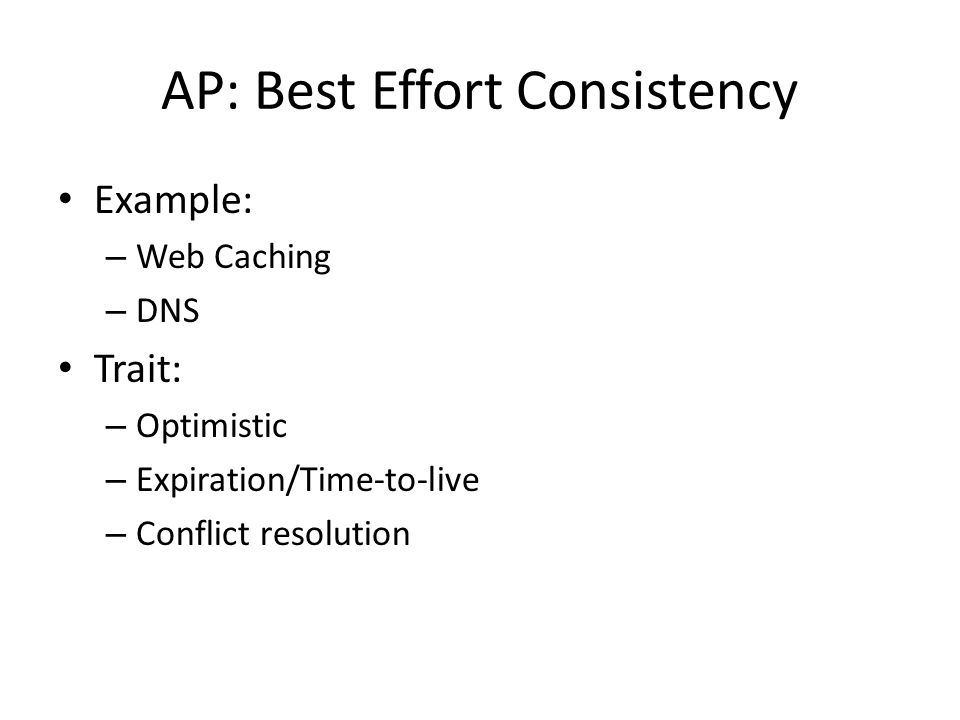 AP: Best Effort Consistency