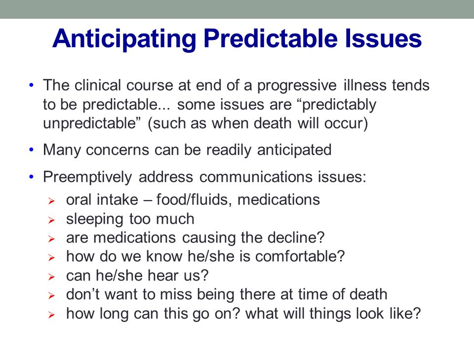 Anticipating Predictable Issues