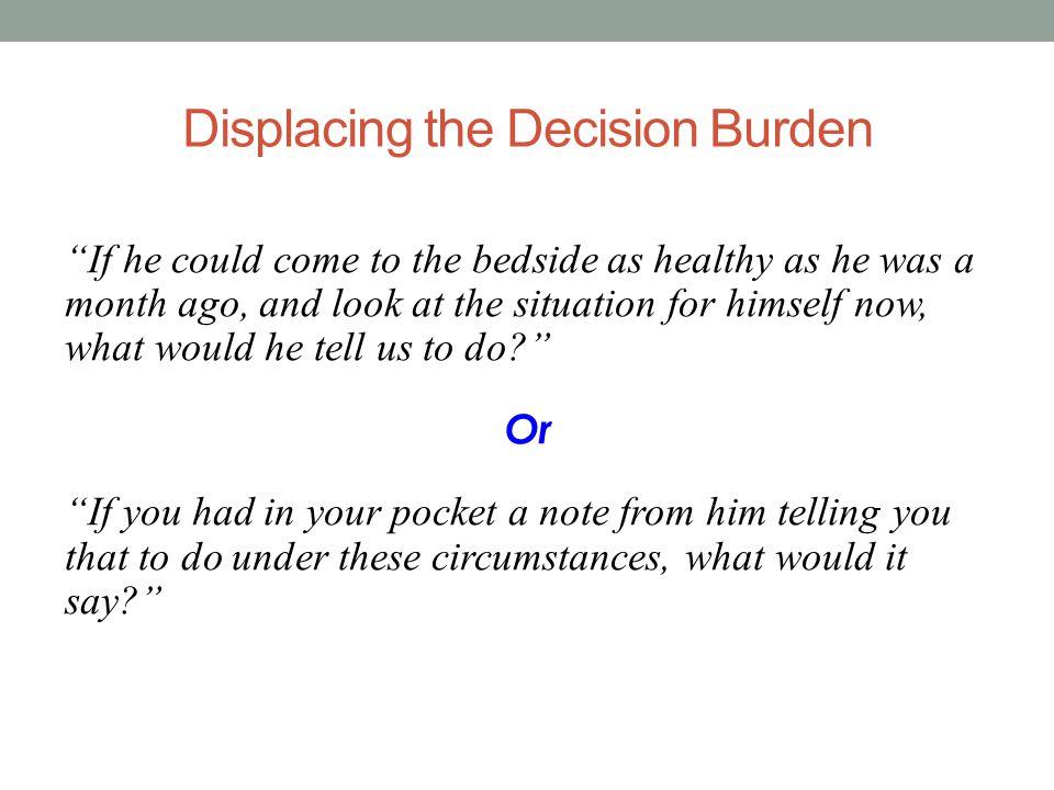 Displacing the Decision Burden