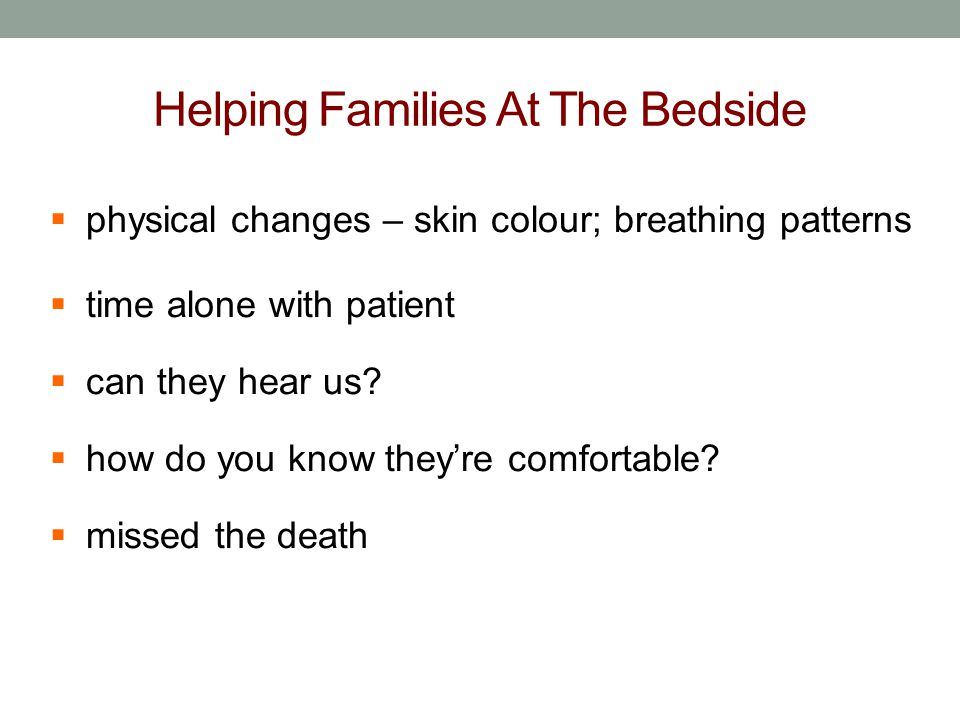Helping Families At The Bedside