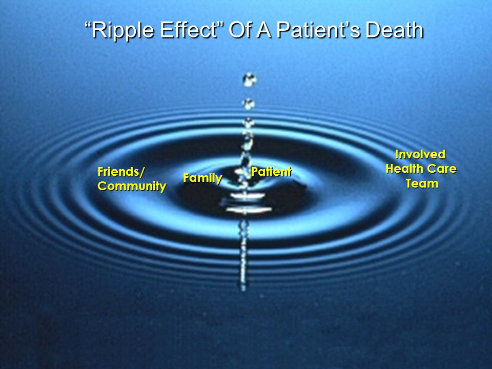 Ripple Effect Of A Patient's Death