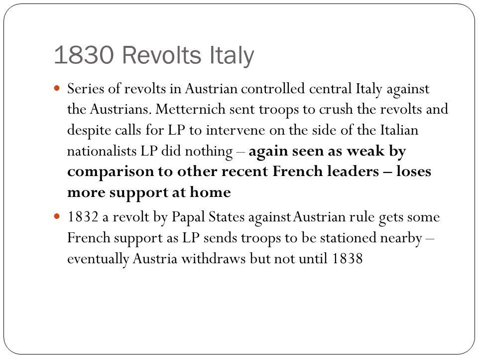 1830 Revolts Italy