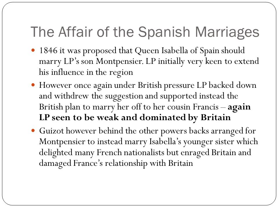 The Affair of the Spanish Marriages
