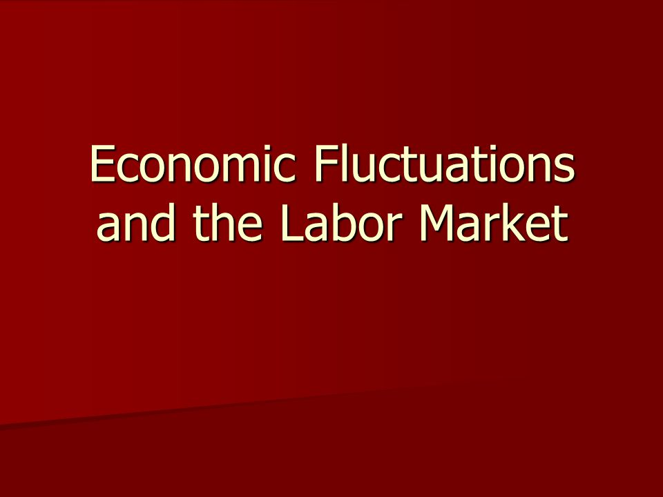 Economic Fluctuations and the Labor Market