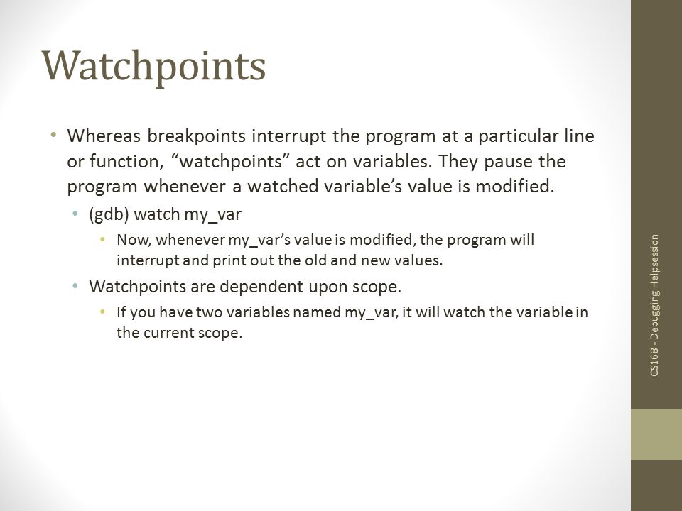Watchpoints