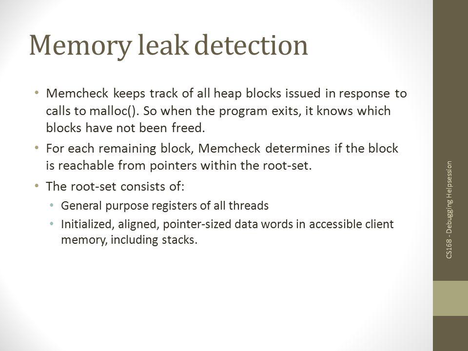 Memory leak detection