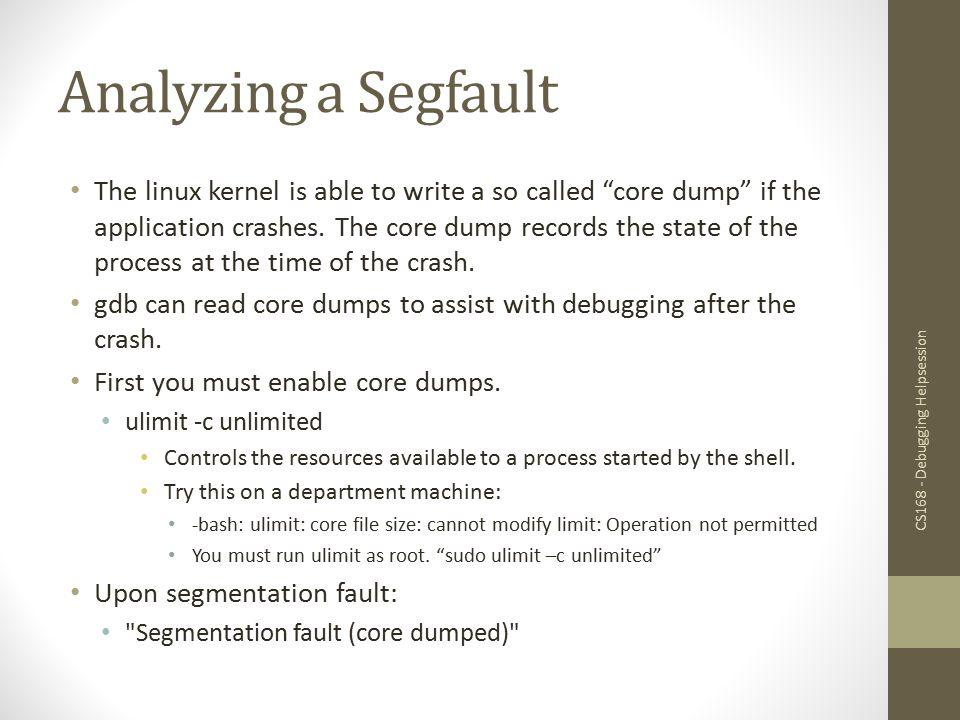 Analyzing a Segfault