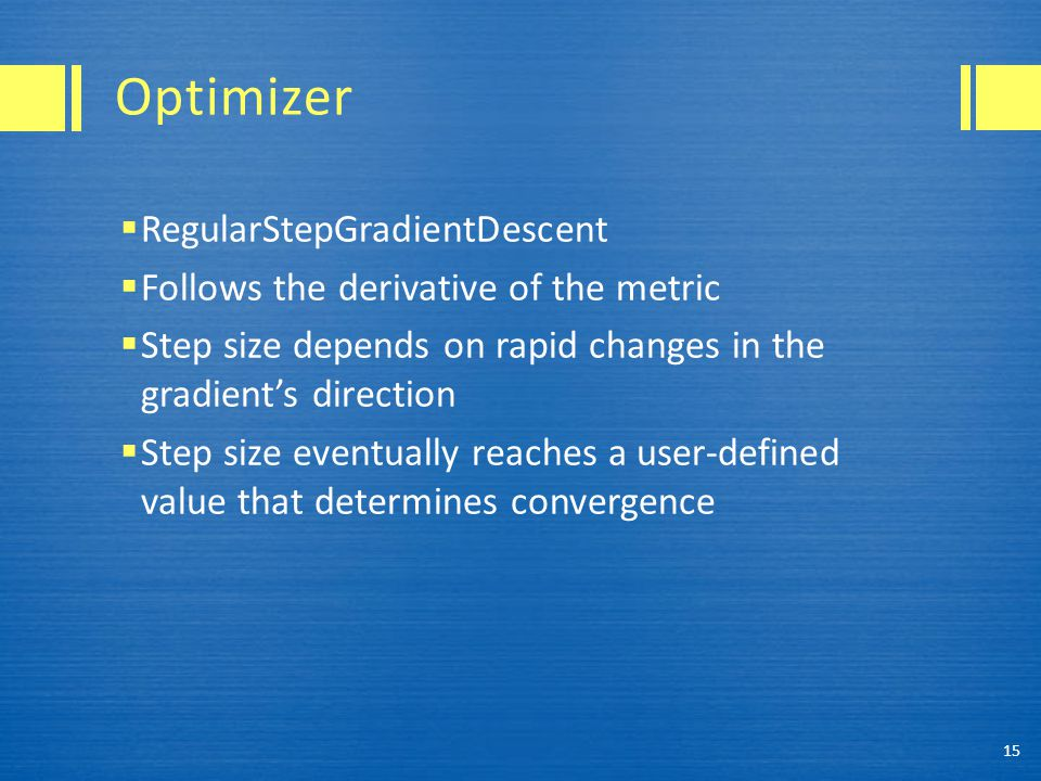 Optimizer RegularStepGradientDescent