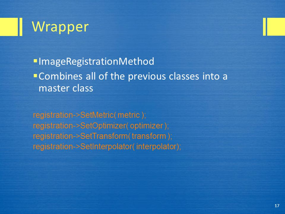 Wrapper ImageRegistrationMethod